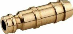 K&W Luchtsteeknippel (2 stuks) euro met 6 mm slangtule messing