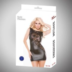 Zwarte Body Pleasure – Wetlook Lingerie – Tl118L – Sexy Dress – - Super strakke jurk - Large size / Bigger medium size – gave Cadeaubox - ideaal om te geven of te ontvangen