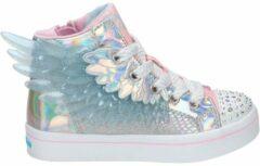 Roze Skechers Twinkle Toes hoge sneakers met lichtjes zilver