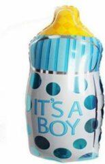 Feestballonnenverkoop Baby Fles Ballon - Blauw - XL - 82x43cm - Folie Ballon - Babyshower - Geboorte - Kraamfeest - It's a Boy - Versiering - Ballonnen - Helium ballon
