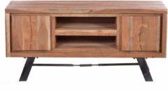 SIT TV-Lowboard »Edge«, aus Akazienholz mit Metalluntergestell, Breite 130 cm
