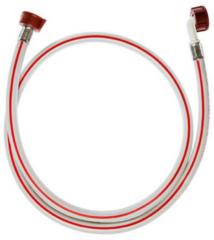 Philips Whirlpool Zulaufschlauch gerade/Winkel 1,5m 90°C Warmwasser (Endstücke: gerade/gewinkelt, 60 bar, 90°C Warmwasser) für Waschmaschinen 50284339004