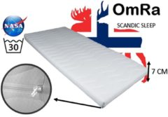 Witte OmRa bedding scandic Topdek matras - topper traagschuim - nasa - visco - 160x200