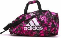 Adidas Combat Sporttas 2-in-1 Roze Camo/zilver 59 Liter