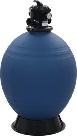 Afbeelding van VidaXL Zwembadzandfilter met 6-positie ventiel 660 mm blauw