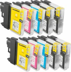 Cyane 2B-Inkt Compatible Brother LC-1100/LC-980 inktcartridges