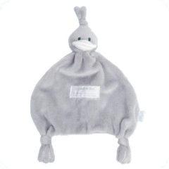 Grijze BamBam Duck Tuttle knuffeldoekje grijs