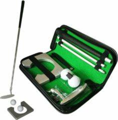 Zilveren Merkloos / Sans marque Golfset draagbaar set met golfputter/golfstok twee golfballen - golfhol-opbergcase-golftraining*golfaccessoires-indoor Putter set