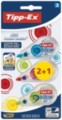 TIPP-EX Tipp-Ex correctieroller Mini Pocket Mouse Fashion, blister 2 + 1 grati (926396)