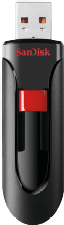 """SanDisk Cruzer® Glideâ""""¢ USB-stick 32 GB USB 2.0 Zwart SDCZ60-032G-B35"""