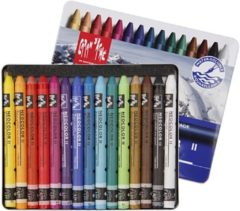 Alles Voor Kleuren Neocolor II, dikte 8 mm, l: 10 cm, 15 stuks, diverse kleuren
