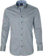 Jac Hensen Overhemd - Modern Fit - Groen - 4XL Grote Maten