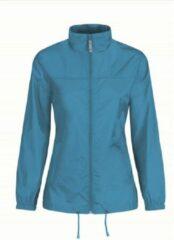 Bc Dames regenkleding - Sirocco windjas/regenjas in het aquablauw - volwassenen XS (34) aqua