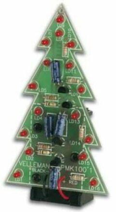 Velleman MK100 LED-kerstboom Uitvoering (bouwpakket/module): Bouwpakket 9 V/DC