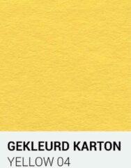 Gele Gekleurdkarton notrakkarton Gekleurd karton yellow 04 30,5x30,5 cm 270 gr.