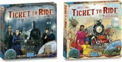 Days of w Ticket to Ride Uitbreidingsspelvoordeelset Ticket to Ride UK/Pennsylvania & Ticket to Ride India & Zwitserland