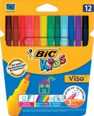 Creativ company Visa fijne kleurstiften, kleuren assorti, lijndikte: 1,6 mm, 12stuks