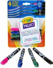 Blauwe Crayola - Projectlijn Markers voor kinderen - Metallic - 4stuks