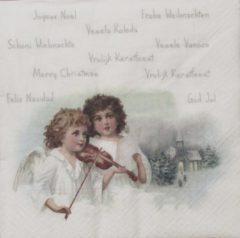 Sagen Vintage Design Angels playing Violin Sagen vintage papieren servetten