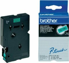 Brother TC-791 - 9mm - black on groen for PT-8E/ PT-2000 / PT-3000 / PT-5000