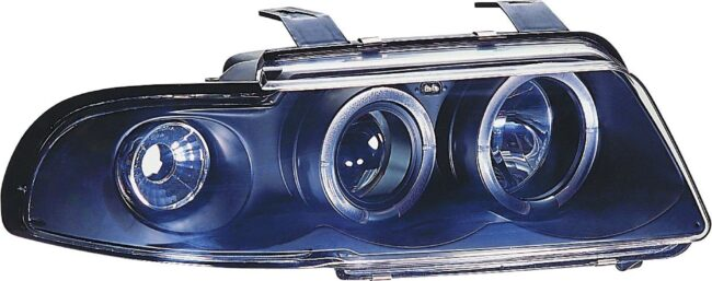Afbeelding van Universeel Set Koplampen Audi A4 B5 1995-1998 - Zwart - incl. Knipperlichten & Angel-Eyes