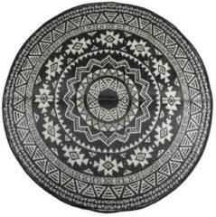 Esschert Design Buitenkleed Tweezijdig Rond - Zwart/Wit