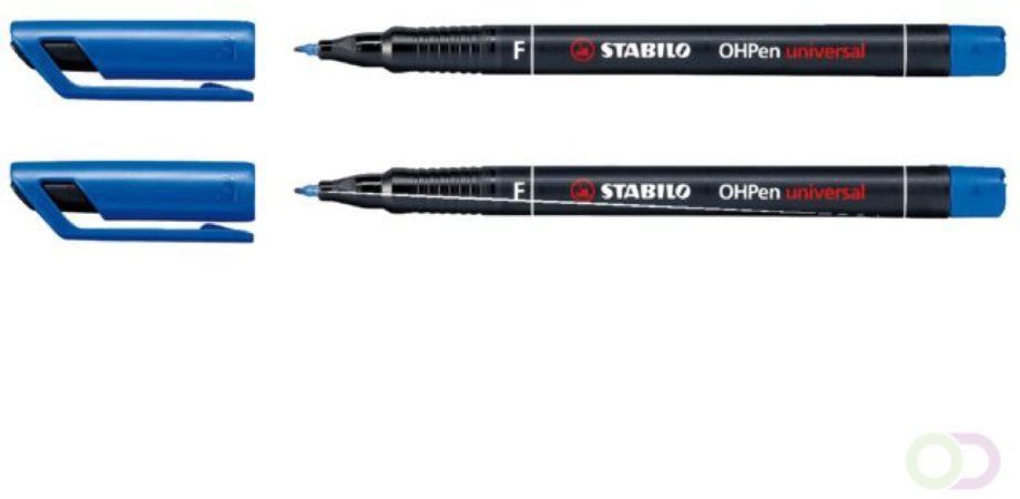 Afbeelding van STABILO OHPen universal, OHP-marker, permanent, fijn 0,7 mm, blauw
