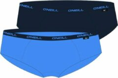 Blauwe O'Neill Dames Hipster Plain 2-pack Ice Blue marine 801042