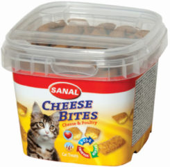 SANAL CAT CHEESE BITES CUP #95; 75 GR