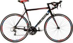 KS Cycling 28 Zoll Rennrad 24 Gänge Shimano Schaltwerk Velocity schwarz