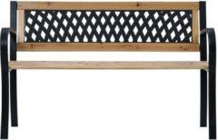 Bruine VidaXL Tuinbank 120 cm hout