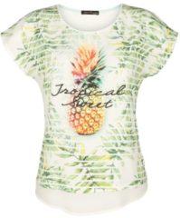 Shirt Alba Moda weiß Ananas