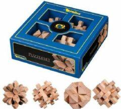 Philos - Puzzelset, 4 houten puzzels 21x21x7.5 cm - Mental Training