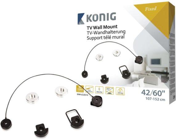 Afbeelding van König KNM-LCLED10 - Vaste muurbeugel - Geschikt voor tv's van 37 t/m 60 inch - Zwart