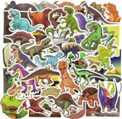 Groene Favorite Things 50x stickers dinosaurus - Mix voor raam, muur, telefoon, laptop etc