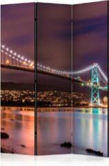 Paarse Kamerscherm - Scheidingswand - Vouwscherm - Glow Above the City [Room Dividers] 135x172 - Artgeist Vouwscherm