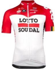 Rode Lotto Soudal Vermarc Trui Korte Mouwen SPL Aero Maat XXL