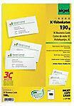 Sigel LP790 Bedrukbare visitekaarten, gladde kant 85 x 55 mm Helderwit 100 stuk(s) Papierformaat: DIN A4