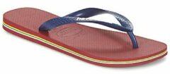 Rode Havaianas Brasil Logo Slippers - Maat 33/34 - Unisex - donker blauw/ rood