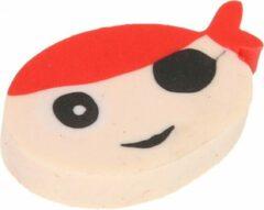 Lg-imports Gum Piraat Jongens 4 Cm Rubber Blank/rood