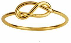 Juulry Goud Plated Ring met Knoop-maat 8