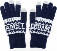 Robin Ruth Handschoenen Mannen Amsterdam blauw smart touch