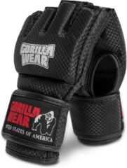 Gorilla Wear Berea MMA Handschoenen (Zonder Duim) - Zwart/Wit