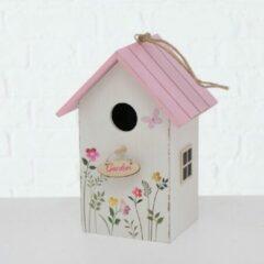 Roze Vogelhuisje Boltze gebloemd Rosalie