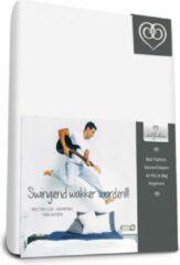 Witte Bed-Fashion molton hoeslaken de luxe, krimpvrij 140 x 200 cm