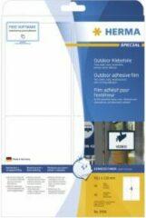 Etiketten Herma 9534 A4 outdoor folie 99,1x139 mm wit extreem vast hechtend folie mat weerbestendig 40 st.