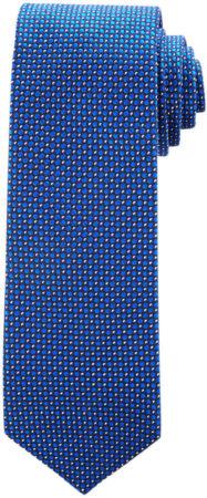 Afbeelding van Donkerblauwe Stropdas Profuomo koninklijk blauw dessin ONE SIZE