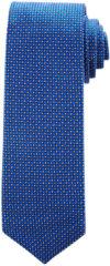 Donkerblauwe Stropdas Profuomo koninklijk blauw dessin ONE SIZE