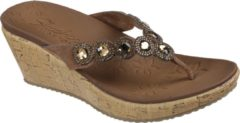 Skechers Beverlee - Bizzy Babe Dames Slippers - Tan - Maat 41