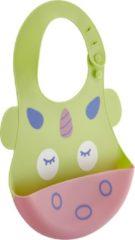 Baby Jem - Slabber - Siliconen met Opvangbak - Groen